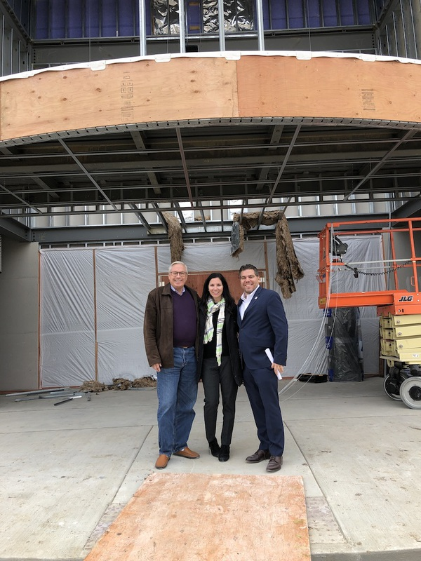 Emagine Officials Tour Under-Construction Theater In Hartland