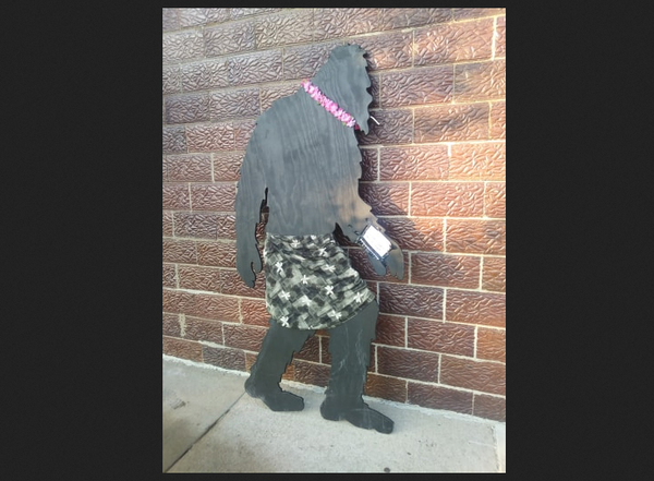Bigfoot Is Back - Silhouette Returned To Howell Store