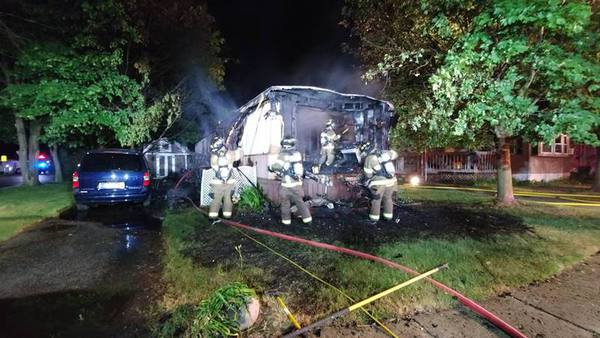 Fire Destroys Mobile Home, Pets In South Lyon