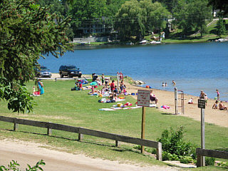Thompson Lake Beach Reopened