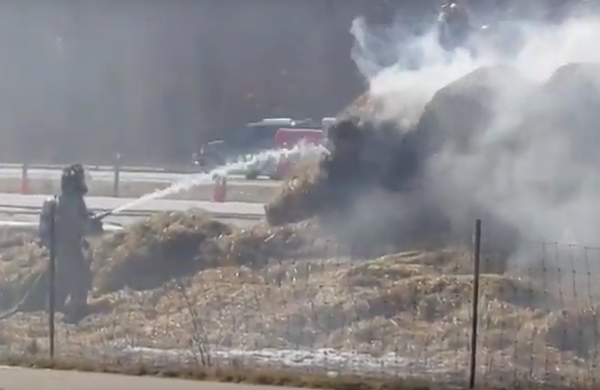 Hay Fire Forces Closure Of US-23