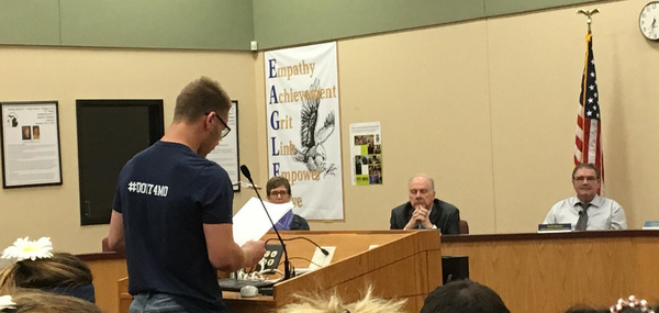Hartland Students Voice Support For Teacher, Coach Put On Leave