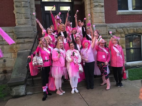 Devout Pink Partiers Turn Out Despite Rain