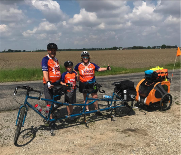 Brighton Family On Back Half Of Fundraising Bike Trip Across Michigan