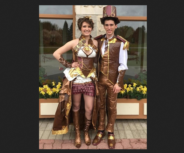 Fowlerville Couple In Online Duct Tape Contest For Prom Creations