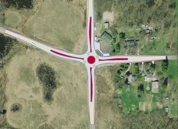 Construction Starting Soon On Roundabout At Pontiac Trail & 7 Mile