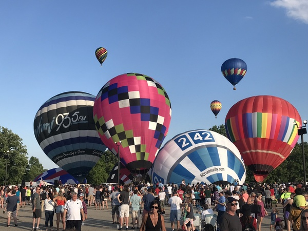 Mother Nature Cooperates As Balloons Take Flight