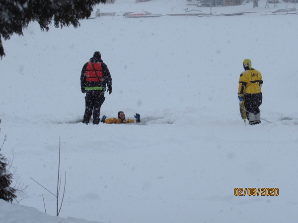 Area Firefighters & Cadets Conduct Ice Rescue Training