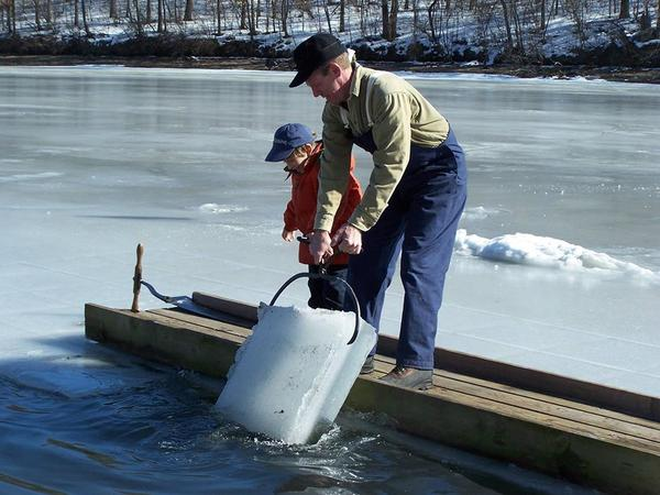 Ice Harvesting At Kensington Metropark Saturday