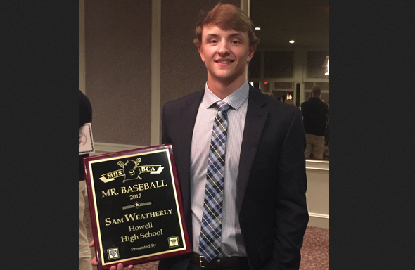 Howell's Weatherly Named Mr. Baseball