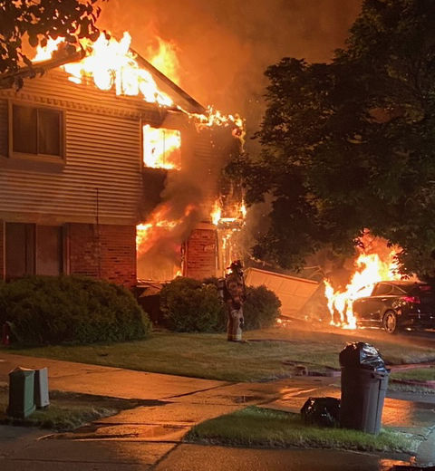 Fire Damages South Lyon Duplex, Injures Resident
