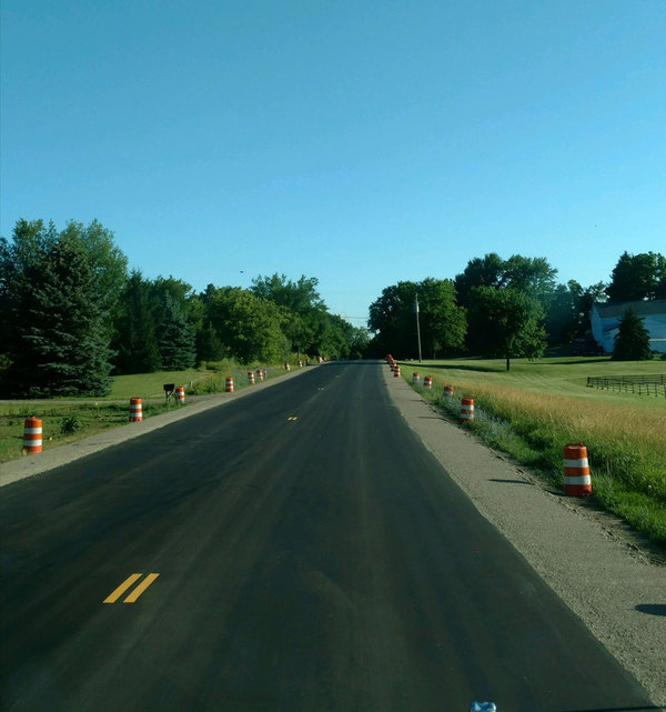 Paving On D-19, Brighton & Spencer Roads Progressing