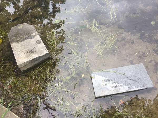 Green Oak Police Provide Answers To Explain Gravestones Found In Local Lake