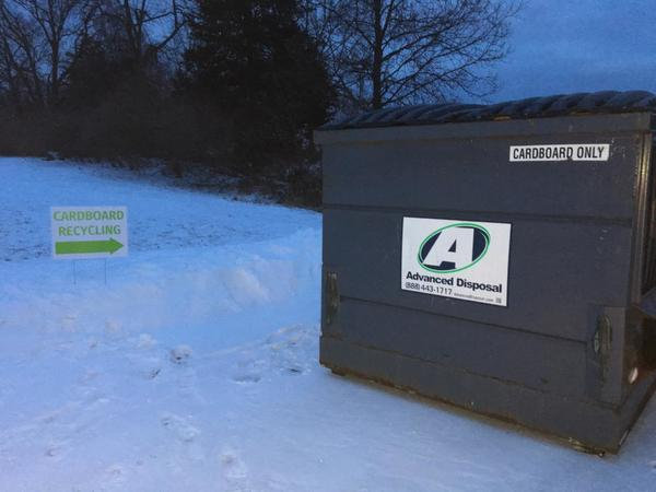 Cardboard Recycling Containers Installed At Genoa Township Hall