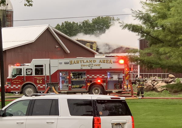 Suspect Awaiting Arraignment For Large Barn Fire