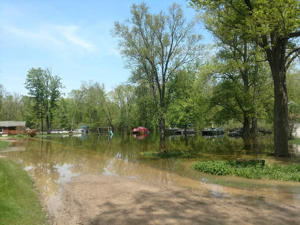 Huron River Cresting In Hamburg Township, Flooding Continues