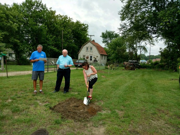 Blessing Of The Ground For New Habitat For Humanity House In Howell