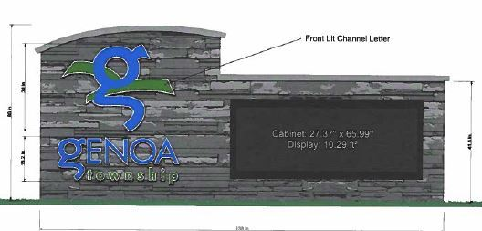 New LED Sign To Be Installed At Genoa Township Hall Entrance
