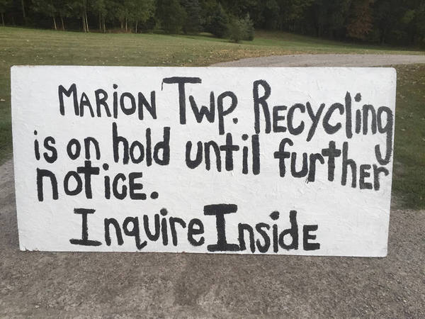 Recycling Service To Return To Marion Township
