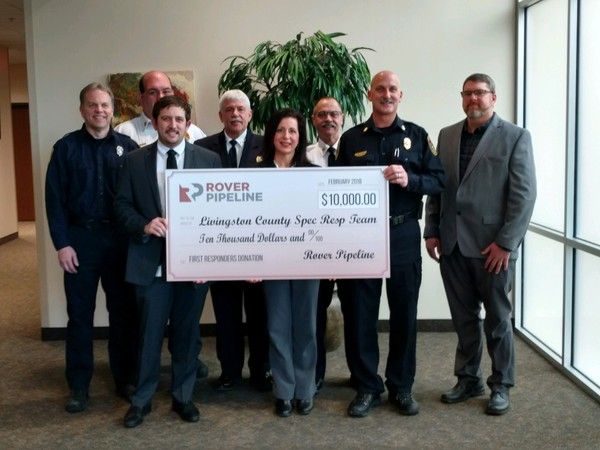 Livingston County Technical Rescue Team To Benefit From Rover Pipeline Donation