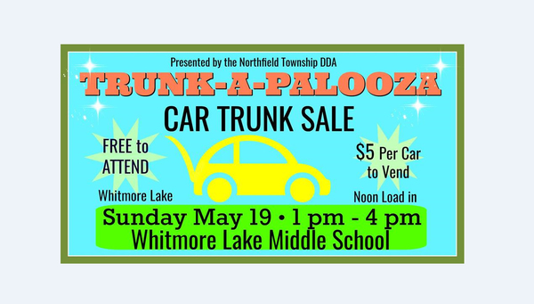 Trunk-A-Palooza Car Trunk Sale Sunday In Whitmore Lake