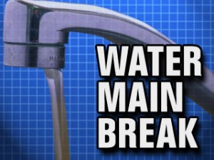 Water Main Break In Village Of Byron