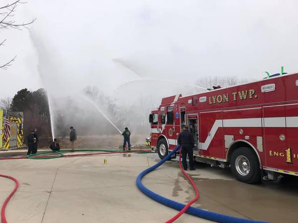 Ceremony Celebrates New Lyon Township Fire Department Engine