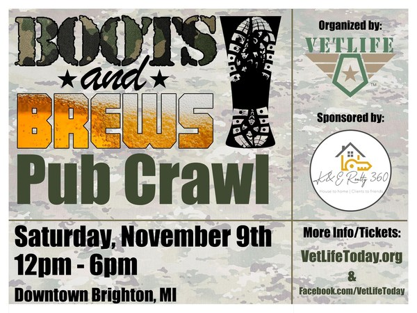 Boots And Brews Pub Crawl To Benefit Local Veterans