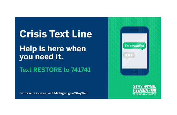 Mental Health Crisis Text Line Now Available