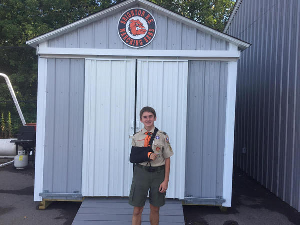 Eagle Scout Builds, Delivers Shed To BHS Marching Band