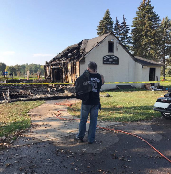 Blaze At Scorpions Motorcycle Club Deemed Suspicious