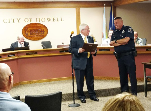 Howell Police Officer Gary Mitts Retires After 21 Years