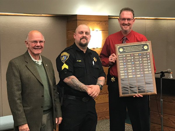Plaque at Sheriff's Office Recognizes Employees Who Served in the Military