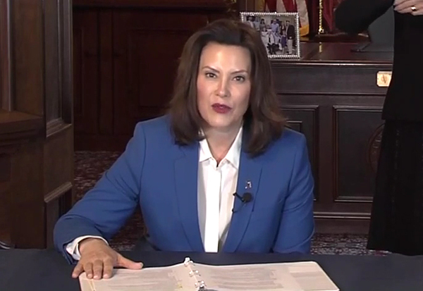"""Whitmer Signs """"Stay Home, Stay Safe"""" Executive Order"""